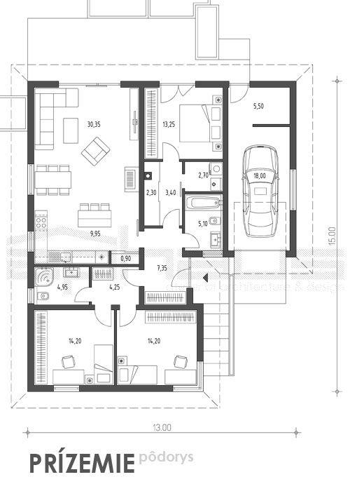 Citole - projekt rodinného domu - Obrázok č. 5