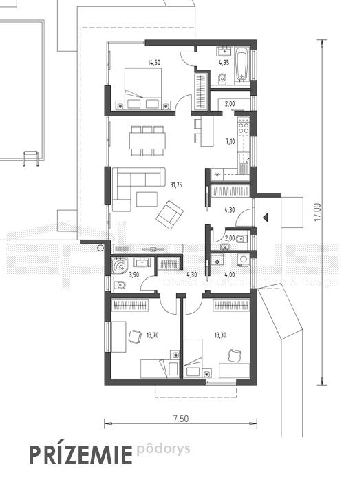 Ewi - projekt rodinného domu - Obrázok č. 7