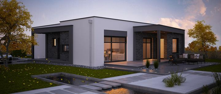Cuatro - projekt rodinného domu - Zadný pohľad
