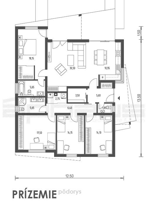 Cuatro - projekt rodinného domu - Obrázok č. 5