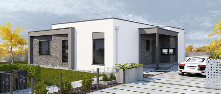 Cuatro - projekt rodinného domu - Predný pohľad