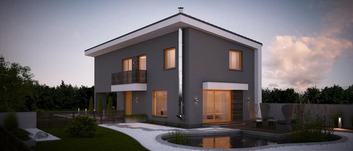 Kokyu - projekt rodinného domu - Zadný pohľad