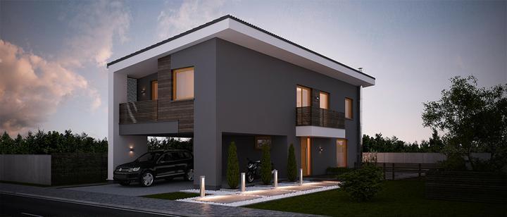Kokyu - projekt rodinného domu - Predný pohľad