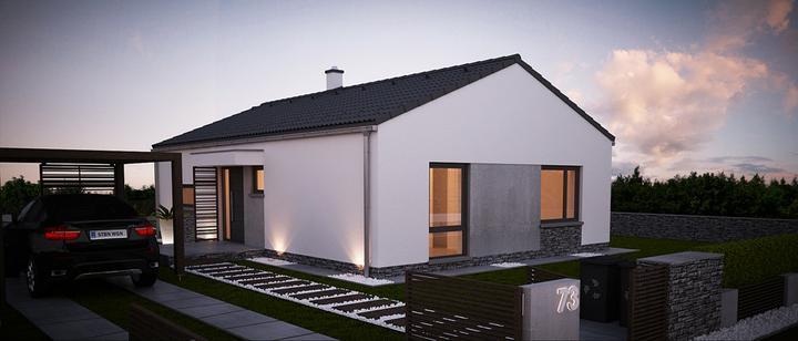 Lirone - projekt rodinného domu - Predný pohľad