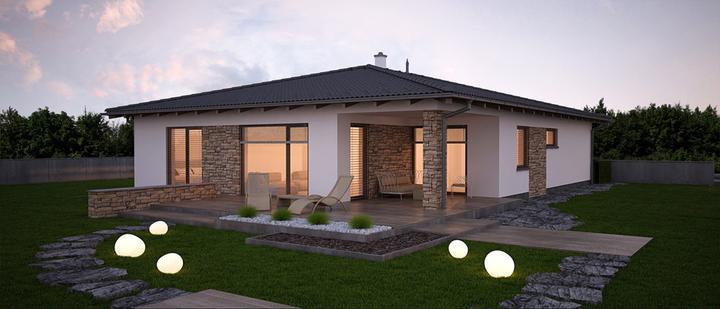 Dobro - projekt rodinného domu - Zadný pohľad