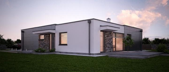 Dahu - projekt rodinného domu - Zadný pohľad