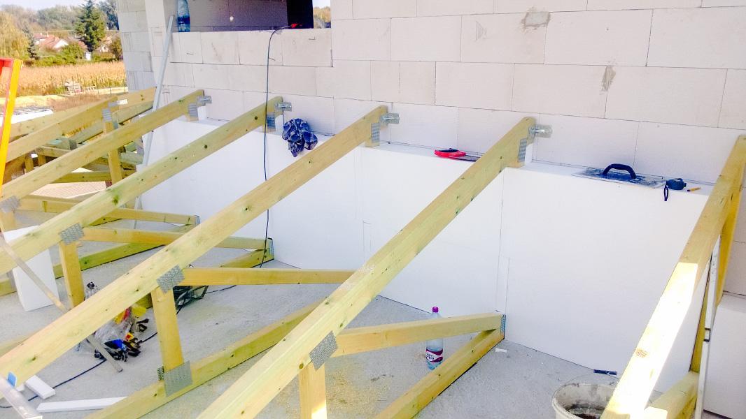 Realizácia rodinného domu pavari - Zabudovaná tepelná izolácia stien