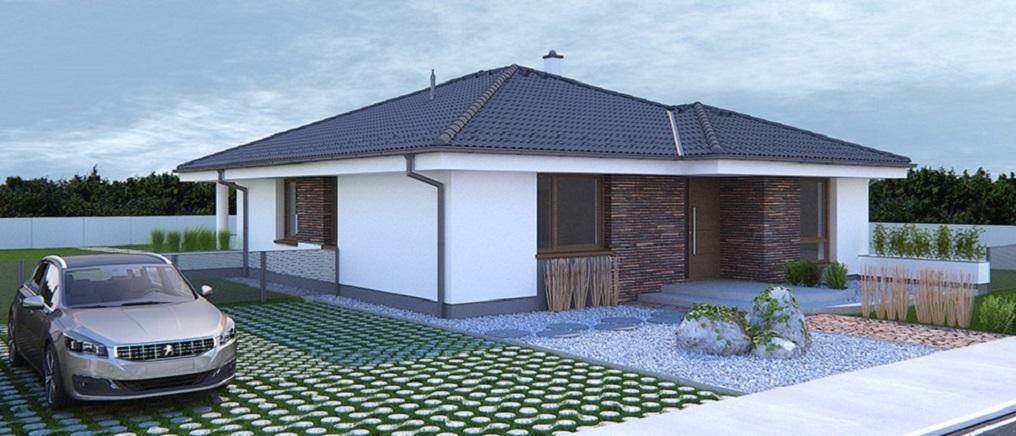 Bugle - projekt rodinného domu - Predný pohľad