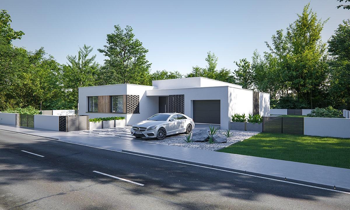 Leiqin - projekt rodinného domu - Predný pohľad