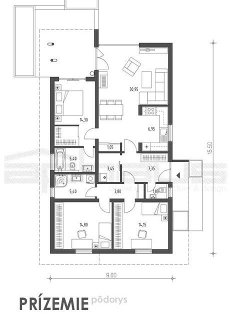Guqin - projekt rodinného domu - Obrázok č. 4