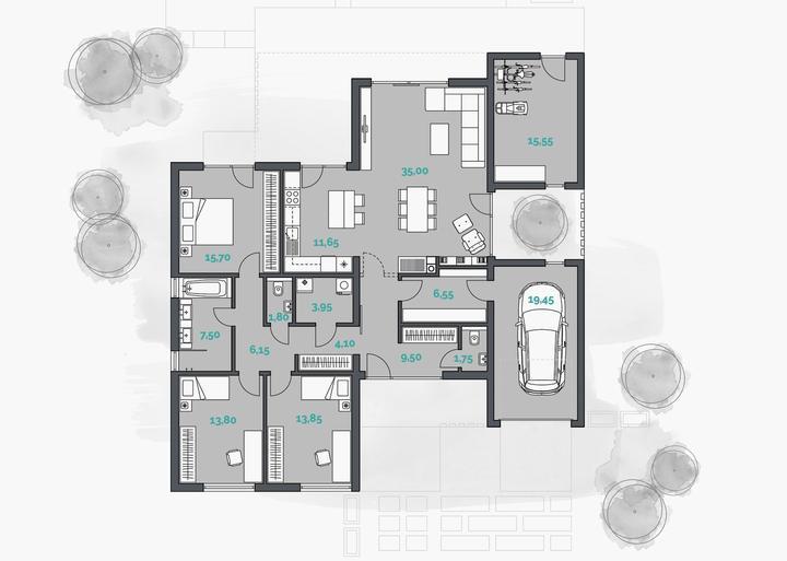 Leiqin - projekt rodinného domu - Obrázok č. 2