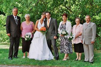 s rodiči a babičkami