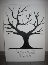 Náš sbvatební strom - 50 x 70 cm (na plátně mnou namalovaný akrylovou barvou) případně Vám ho mohu také vyrobit