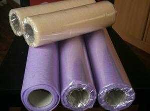 fialový a krémový vlizelín