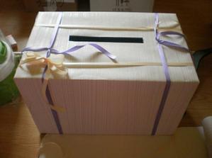první pokus o krabici na obálky, ještě nedodělaná
