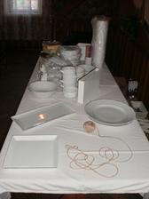 stůl na raut bude daleko větší