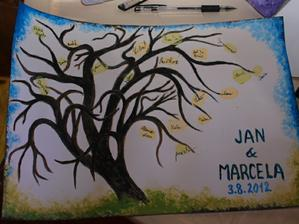 strom - malovala kamarádka jako dárek