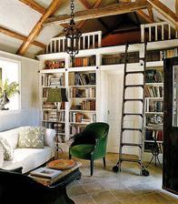 takéto niečo by sme horzne chceli, ale ešte zvažujeme či takto, alebo spraviť knižničku rovno v podkroví
