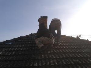rozoberanie komínu