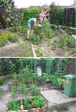 brigáda na záhrade :)