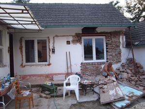 dalšie dve okná osadené :)