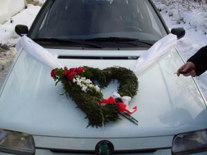 Ozdoba na auto pro kamarádku - moje vlastnoruční výroba