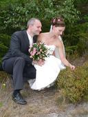 Svatební šaty vyšívané perličkami - vel.36, 36