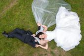 Svatební šaty s krajkou a ramínky Madora, 40