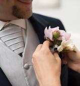 Svatební set Bandi - vesta, regata, kapesníček, 54
