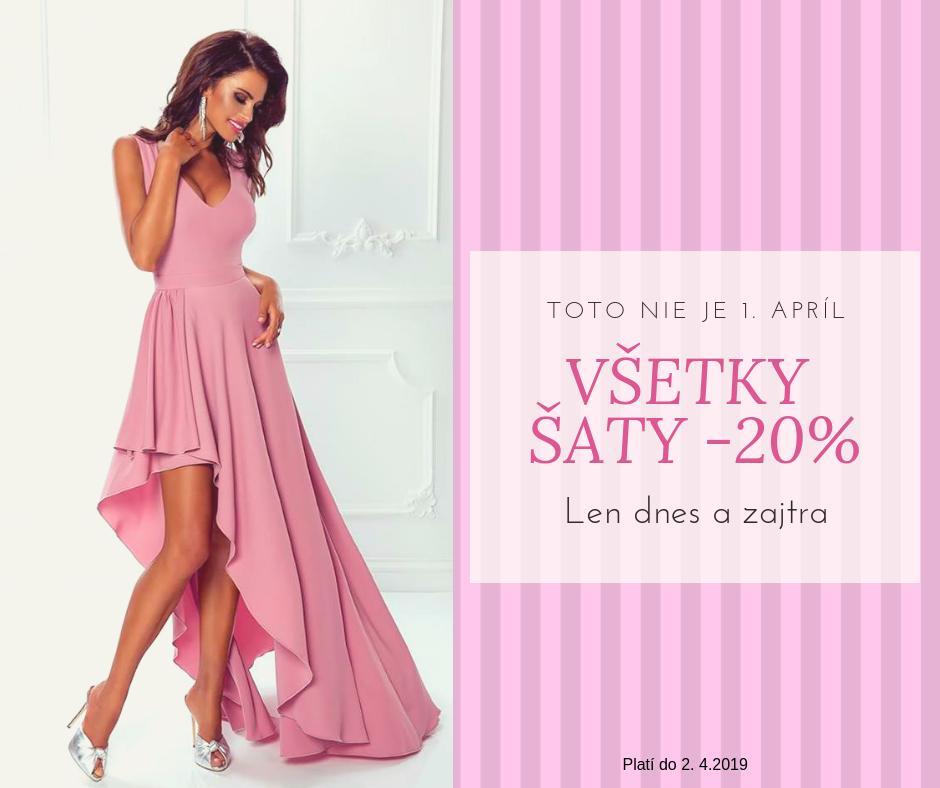 1.aprílová akcia na spoločenské šaty - Obrázok č. 1