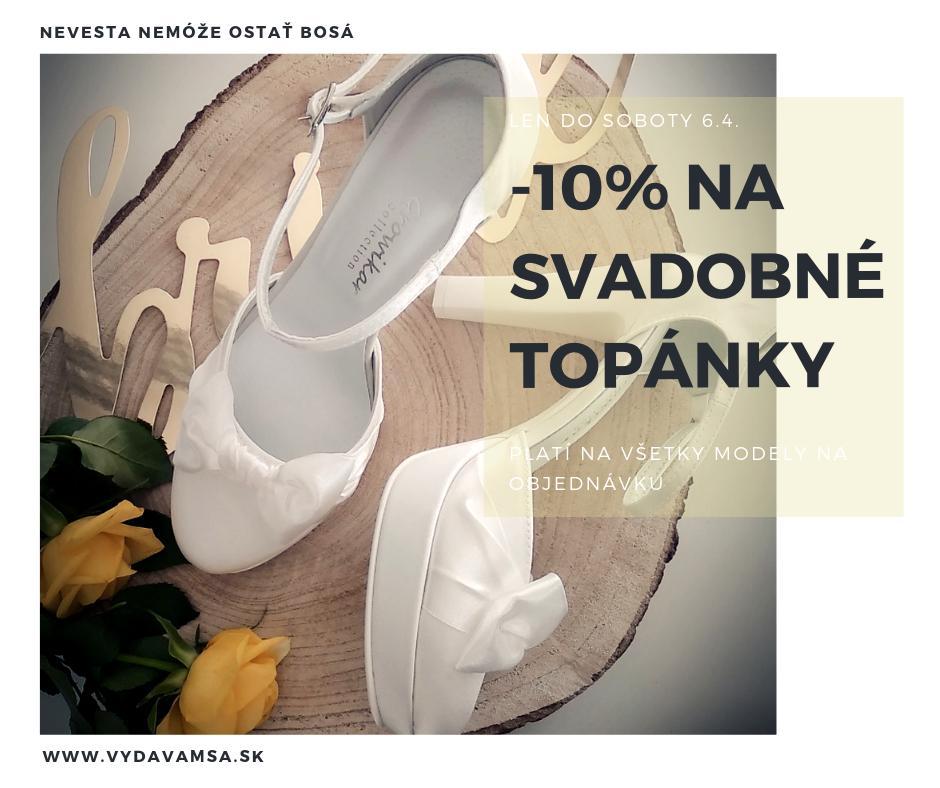 TOP AKCIA Svadobné topánky -10% - Obrázok č. 1