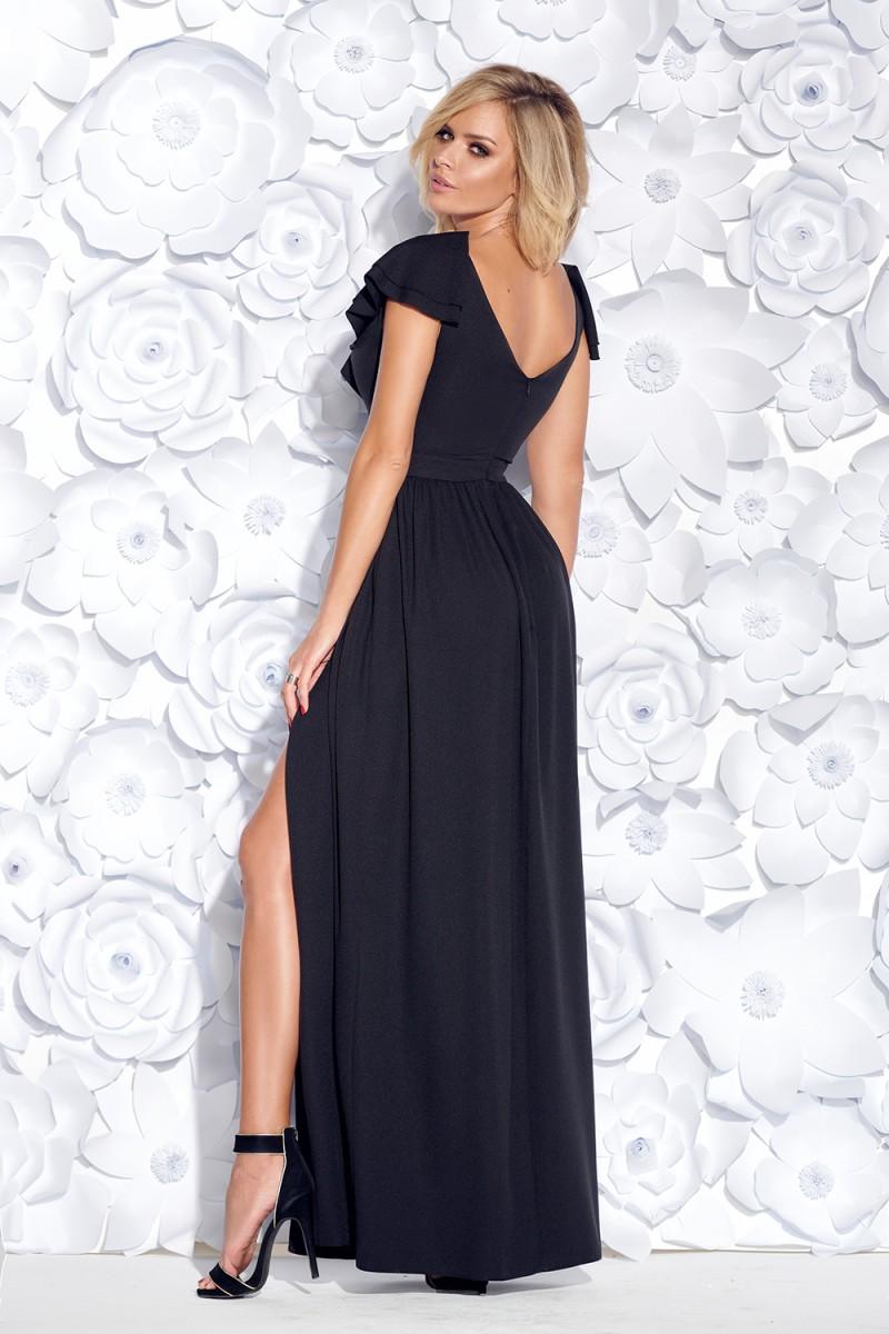 Spoločenské šaty Maxine čierne veľ. S - Obrázok č. 2