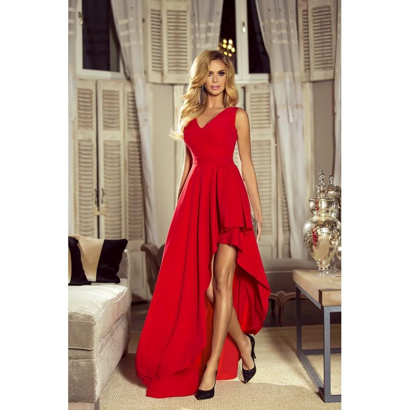 Spoločenské šaty dlhé Ines červené veľ. XS, S - Obrázok č. 1