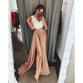 Spoločenské šaty dlhé Juliette zlaté veľ. XL,