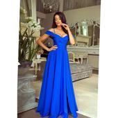 83b299f31654 Spoločenské šaty dlhé Elizabeth modré veľ. M NOVÝ TOVAR