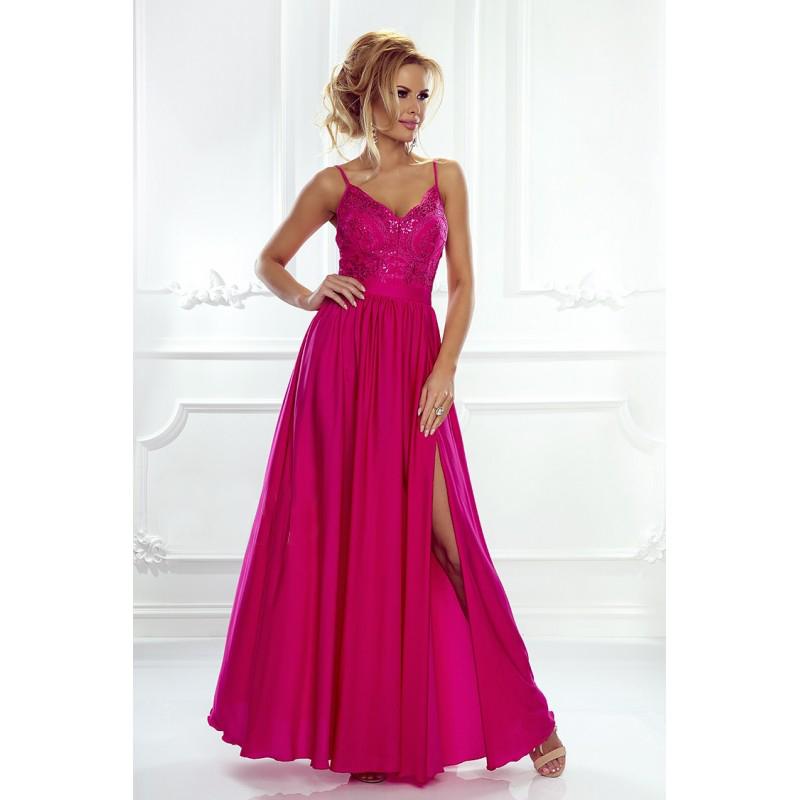 Spoločenské šaty dlhé Belle fuksiové veľ. XS - Obrázok č. 1