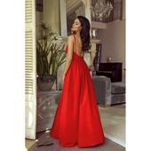 Spoločenské šaty dlhé Meggie červené veľ. S 2b1323f4213