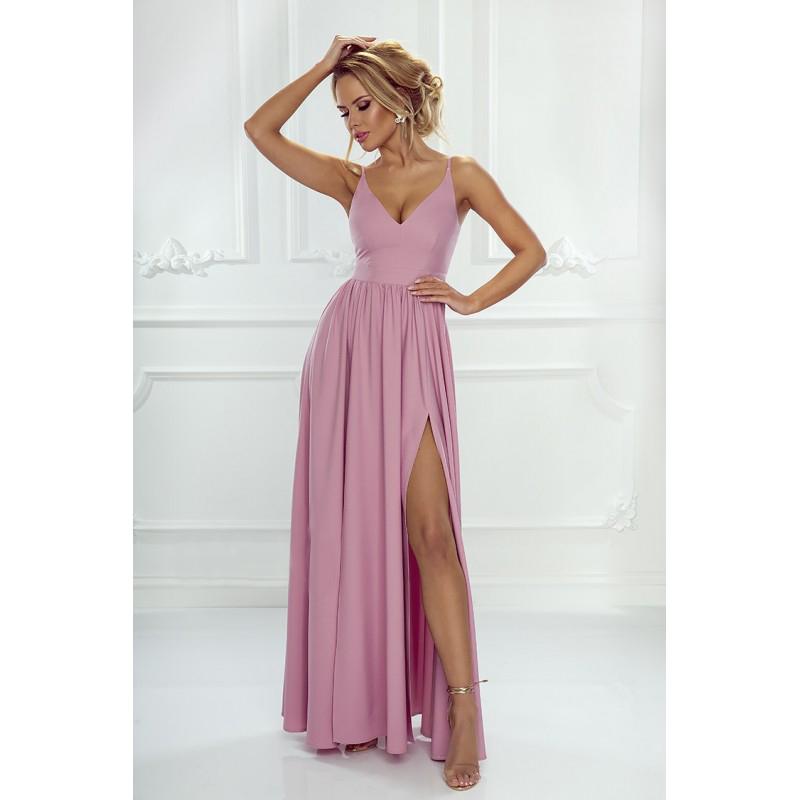 Spoločenské šaty dlhé Nina ružový púder veľ. XS - Obrázok č. 1