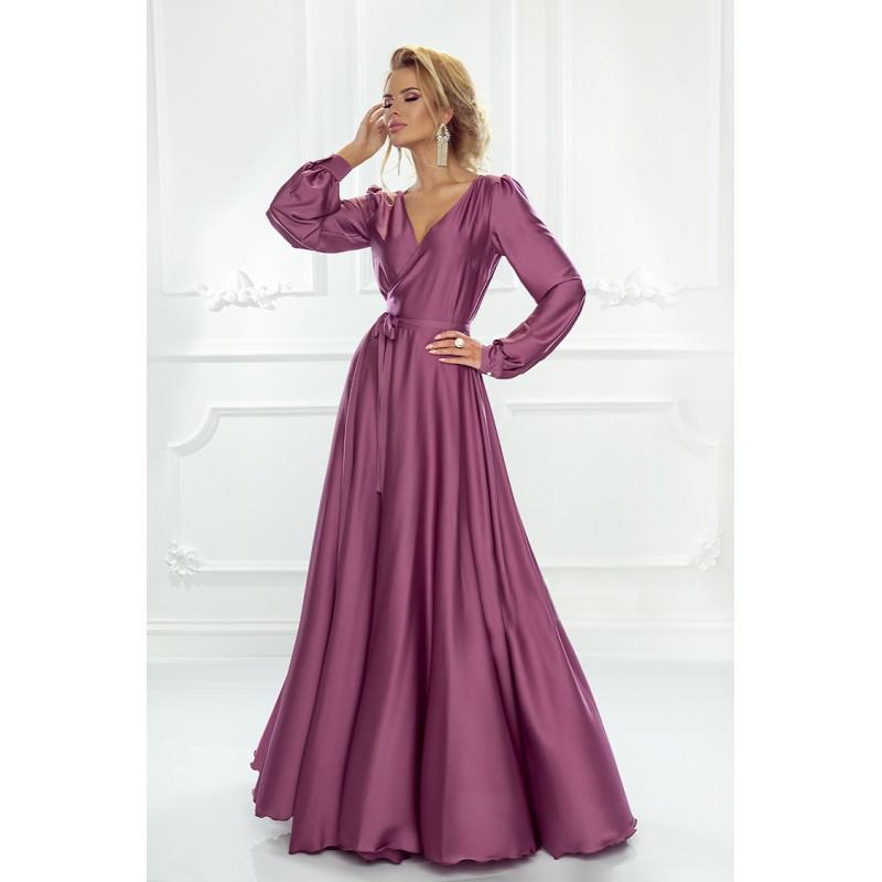 Spoločenské šaty dlhé Isabell purpurové veľ.UNI  - Obrázok č. 1