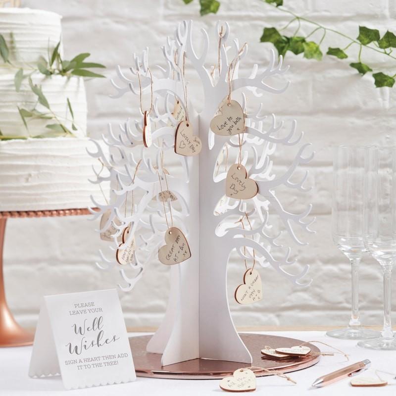 Kniha hostí svadobný strom so 70 srdiečkami - Obrázok č. 1