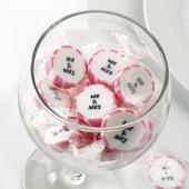 Svadobné cukríky Mr&Mrs ružové cca 50ks,