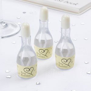 Svadobný bublifuk mini fľaška s ivory vrchnákom - Obrázok č. 1