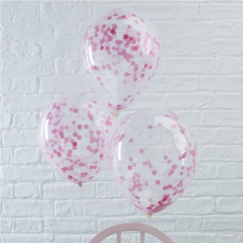 Priehľadný balón s ružovými konfetami - Obrázok č. 1