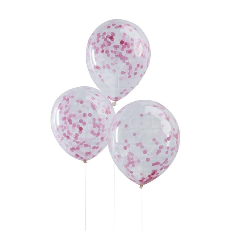 Priehľadný balón s ružovými konfetami - Obrázok č. 2