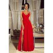 Spoločenské šaty dlhé Nina červené veľ. S,