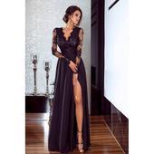 Spoločenské šaty dlhé Luna čierne vel. M,L,