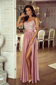 Spoločenské šaty dlhé Belle ružová veľ. S,