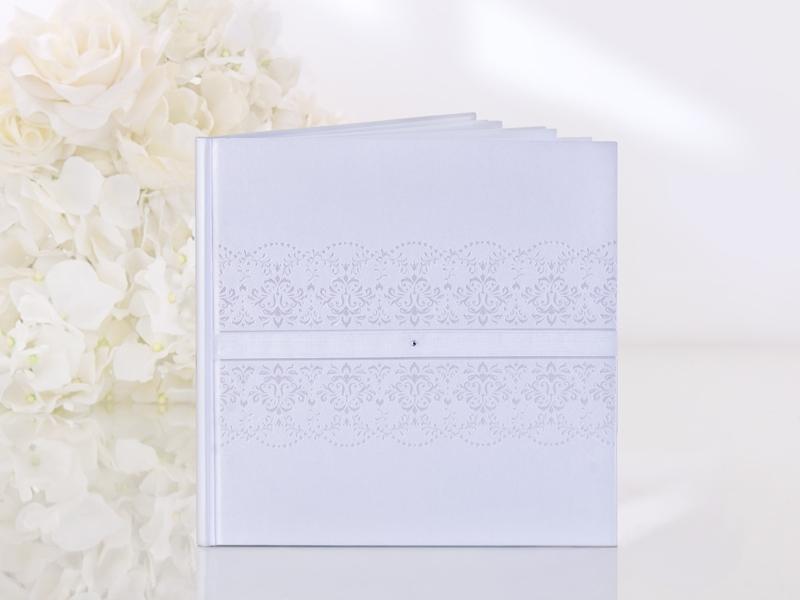 Kniha hostí biela s ornamentom - Obrázok č. 1