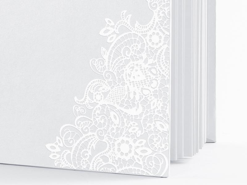 Kniha hostí biela s perleťovým vzorom - Obrázok č. 3