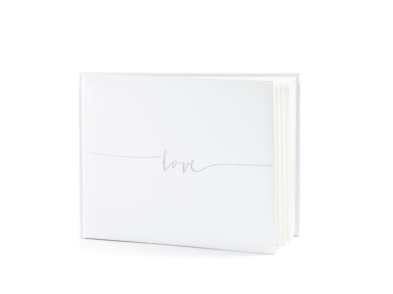 Kniha hostí biela Love strieborná - Obrázok č. 2